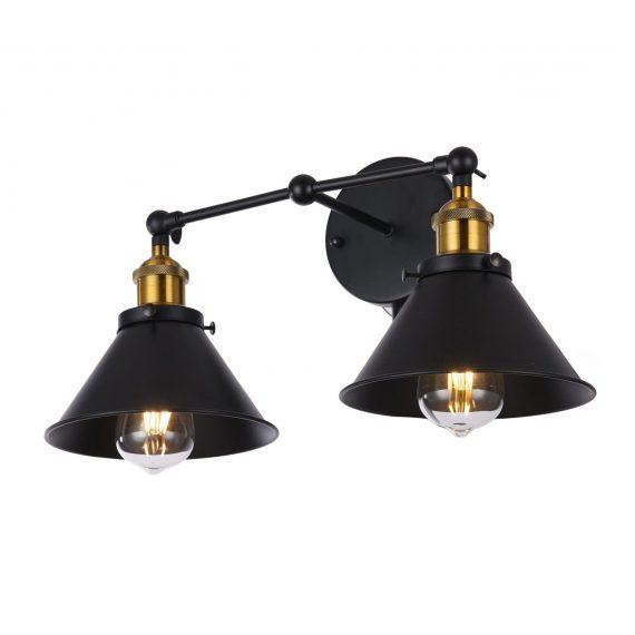 Kinkiet czarny Gubi Duo Lampy ścienne | Kinkiety cz