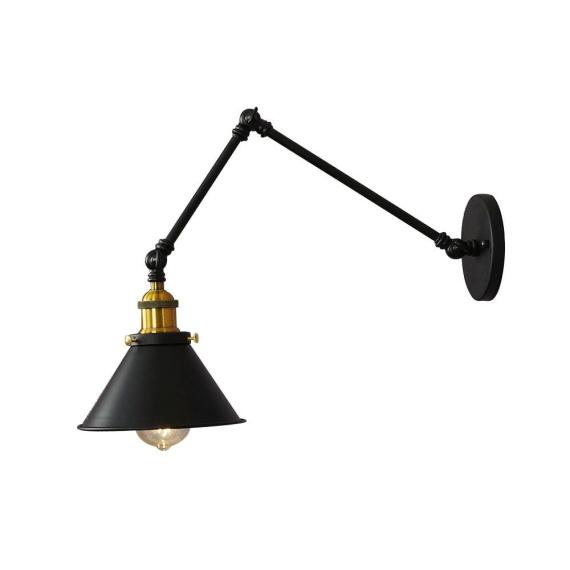 Kinkiet czarny Gubi W2 Lampy ścienne | Kinkiety kinkiet industrialny