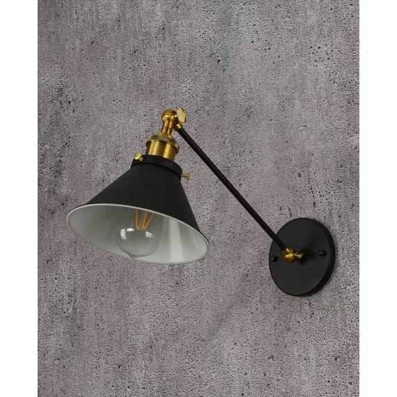 Kinkiet czarny Gubi WT Lampy ścienne | Kinkiety kinkiet industrialny