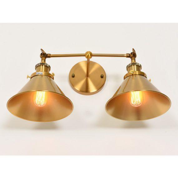 Kinkiet mosiężny Gubi Duo Lampy ścienne | Kinkiety złoty kinkiet