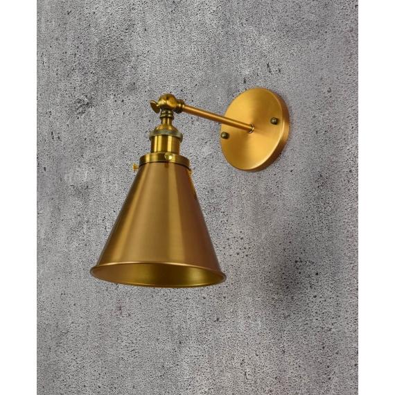 Kinkiet Rubi W1 mosiężny Lampy ścienne   Kinkiety kinkiet industrialny