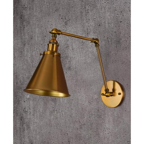 Kinkiet Rubi W2 mosiężny Lampy ścienne | Kinkiety kinkiet loftowy