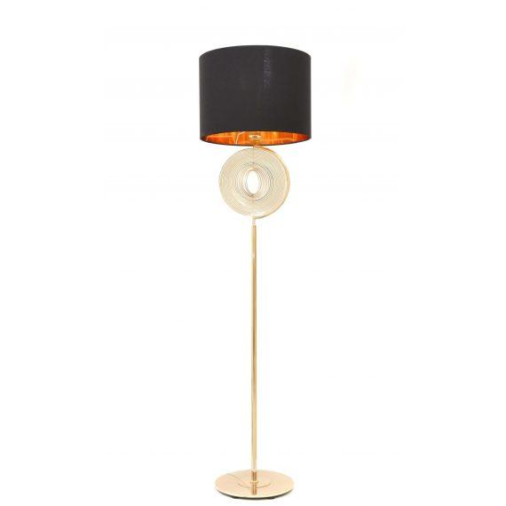 Lampa stojąca podłogowa Monteroni czarna Podłogowe lampa glamour