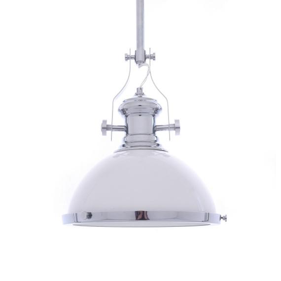 Lampa wisząca industrialna ETTORE biała Oświetlenie