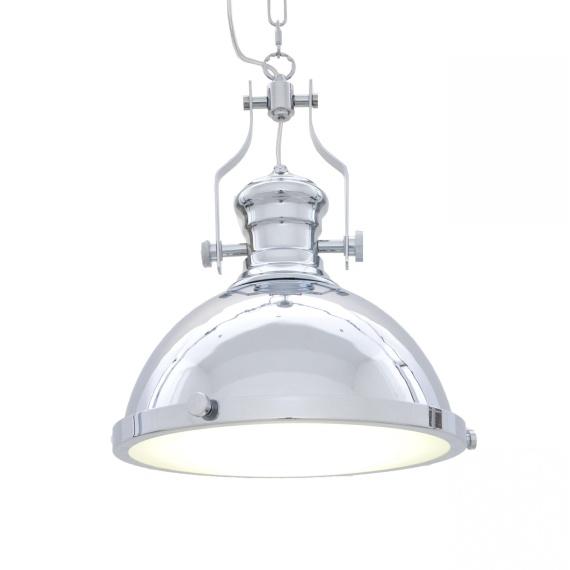 Lampa wisząca industrialna ETTORE chromowana Oświetlenie industrialna lampa barowa