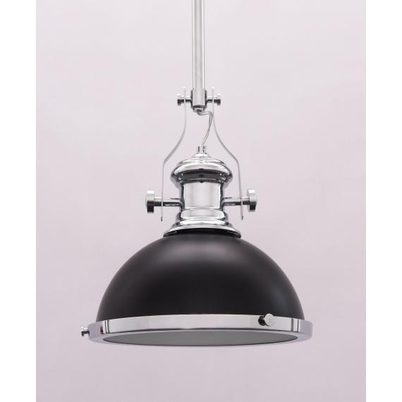 Lampa wisząca industrialna ETTORE czarna Oświetlenie