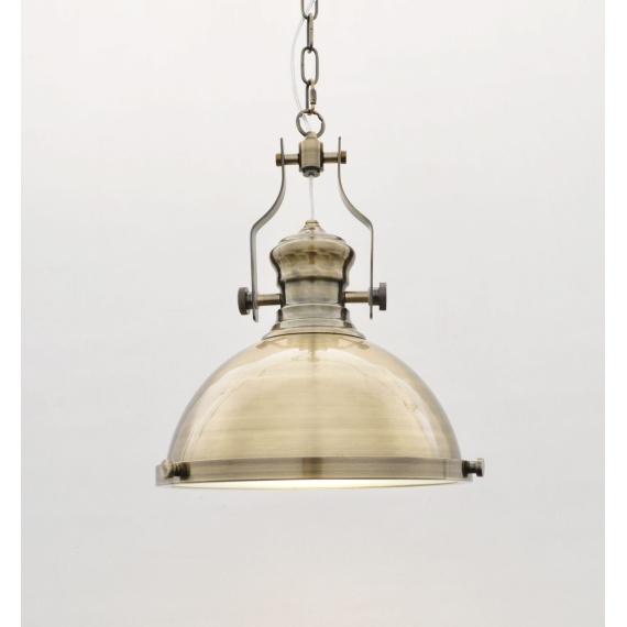 Lampa wisząca industrialna ETTORE mosiężna Wiszące | Żyrandole lampa do baru