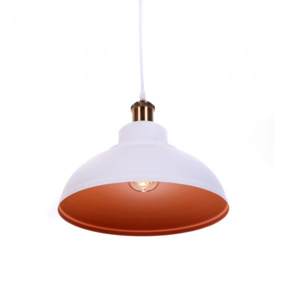 Lampa wisząca loft BOGGI biała Oświetlenie