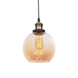 Lampa wisząca Navarro bursztynowa Wiszące | Żyrandole lampa industrialna