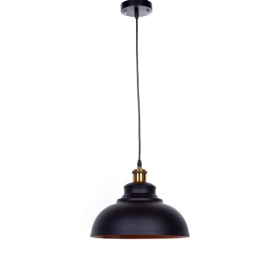 Lampa wisząca loft Boggi czarna Oświetlenie