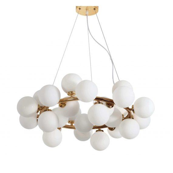 Lampa wisząca Marsiada W25 mosiężna Wiszące | Żyrandole