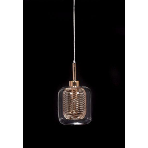 Lampa wisząca Bessa różowe złoto Wiszące | Żyrandole