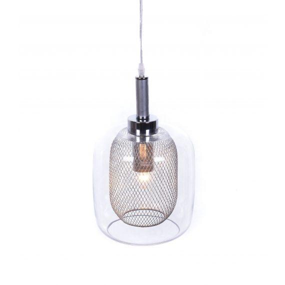 Lampa wiszące Bessa srebrna Wiszące | Żyrandole