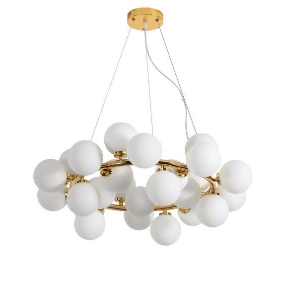 Lampa wisząca Marsiada W25 złota Wiszące   Żyrandole