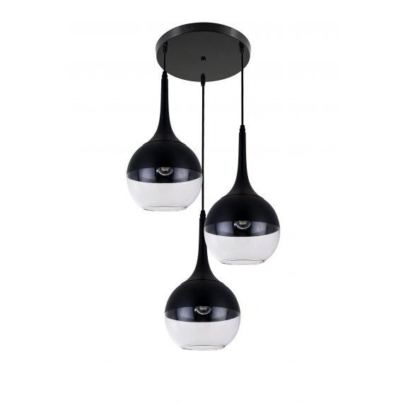 Lampa wisząca Frudo W3 czarna Wiszące   Żyrandole lampa do salonu