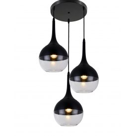 Lampa wisząca Frudo W3 czarna Wiszące | Żyrandole lampa do salonu