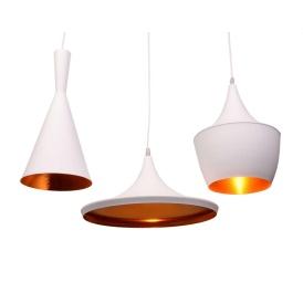 Potrójna lampa wisząca FOGGI TRIO biała Oświetlenie