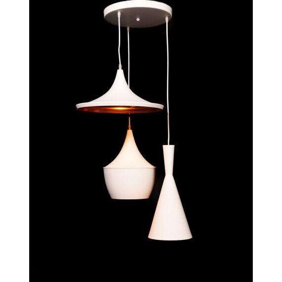 Potrójna lampa wisząca FOGGI W3 biała Wiszące   Żyrandole