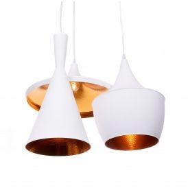 Potrójna lampa wisząca FOGGI W3 biała Wiszące | Żyrandole
