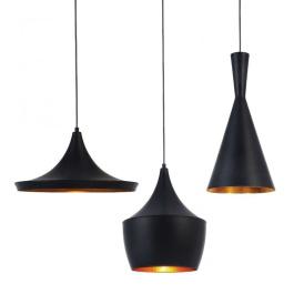 Potrójna lampa wisząca FOGGI TRIO czarna Oświetlenie