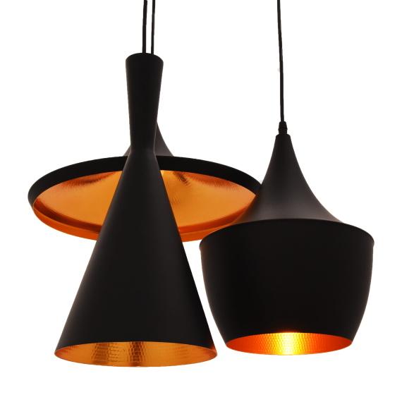 Potrójna lampa wisząca FOGGI W3 czarna Oświetlenie