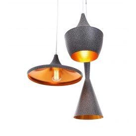 Potrójna lampa wisząca FOGGI W3 granit Wiszące   Żyrandole