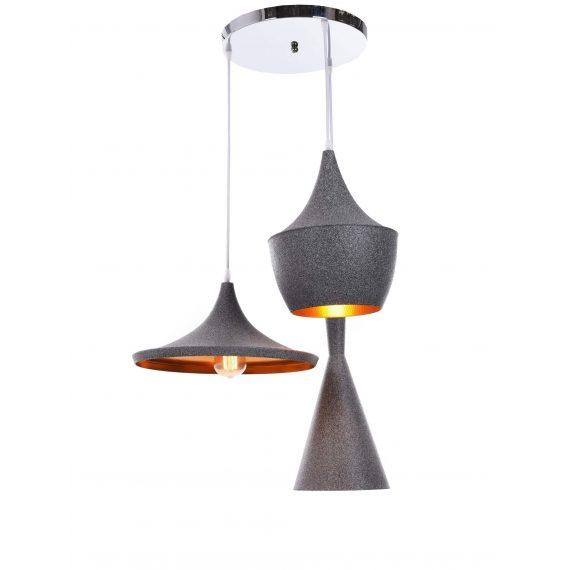 Potrójna lampa wisząca FOGGI W3 granit Wiszące | Żyrandole