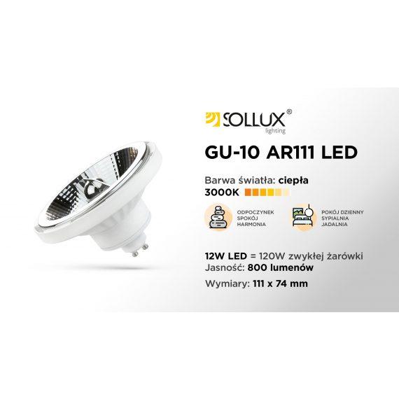 Żarówka LED GU10 3000K CIEPŁA 12W 800lm Żarówki Żarówka LED GU10