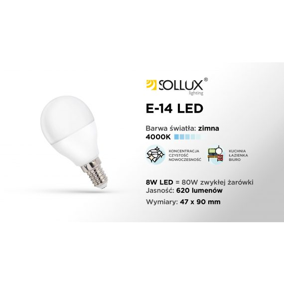 Żarówka LED E27 3000K CIEPŁA 8W 620lm Żarówki żarówka E27