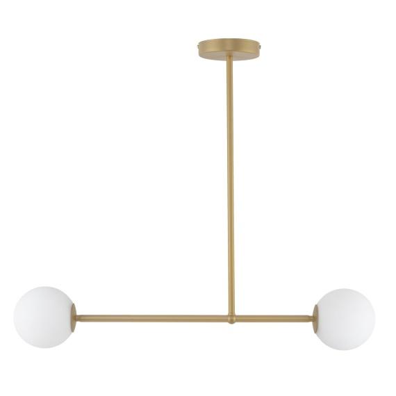 złota lampa z białymi kloszami Gama 2