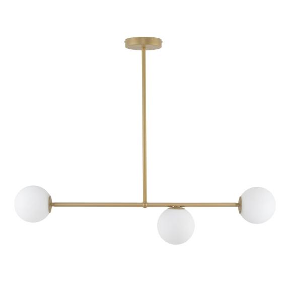 Złota lampa wisząca nad stół wielopunktowa kule