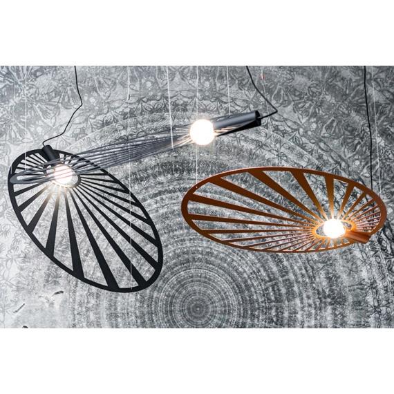 Lampa wisząca LEHDET CZARNA Oświetlenie LAMPY THORO