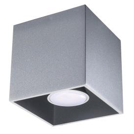 Lampa sufitowa Quad 1 szary Sufitowe | Plafony downlight
