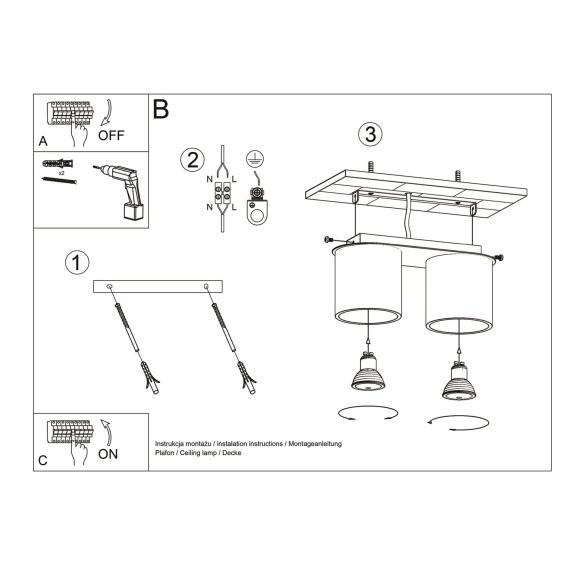 Plafon ORBIS 2 Sufitowe   Plafony downlight