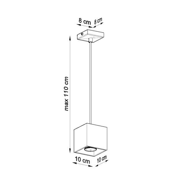 Lampa wisząca Quad Wiszące | Żyrandole kwadratowa lampa wisząca