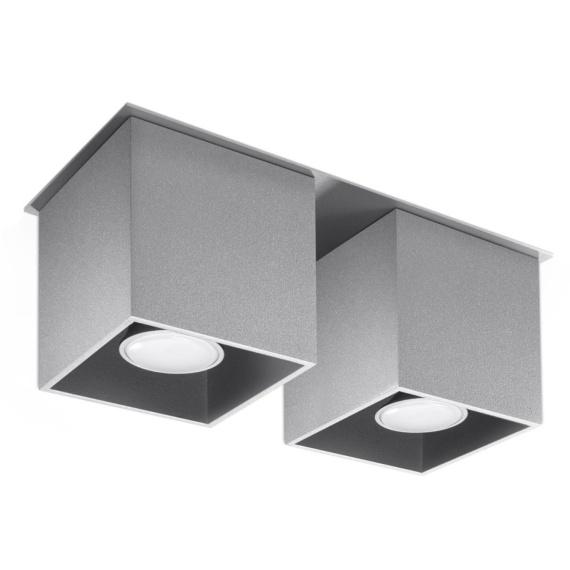 Lampa sufitowa plafon Quad 2 szary Sufitowe   Plafony downlight
