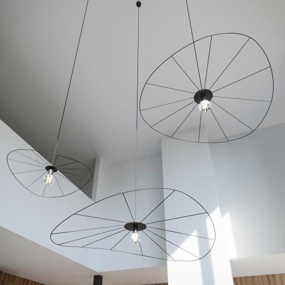 Lampa wisząca ESKOLA 70 CZARNA Oświetlenie LAMPY THORO