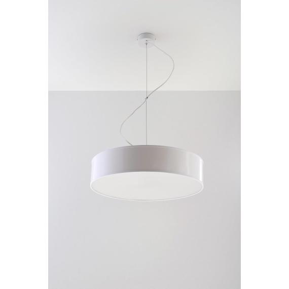 Lampa Wisząca ARENA 45 Biała Jednopunktowe lampa do jadalni