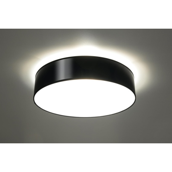 Plafon ARENA 45 Czarny Sufitowe   Plafony lampa do przedpokoju