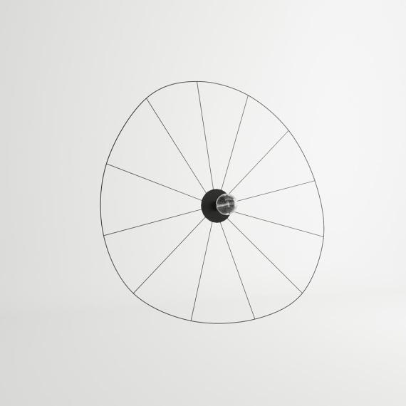 Kinkiet / Plafon ESKOLA 140 CZARNY Oświetlenie LAMPY THORO