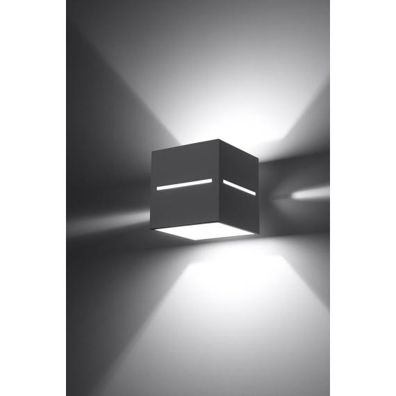 Kinkiet LOBO Szary Lampy ścienne | Kinkiety kinkiet do przedpokoju