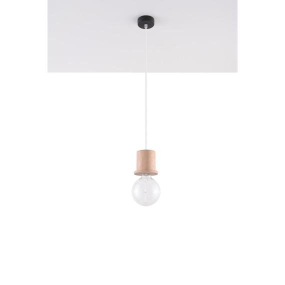 Lampa Wisząca Milo Wiszące | Żyrandole Nowoczesna drewniana lampa wisząca