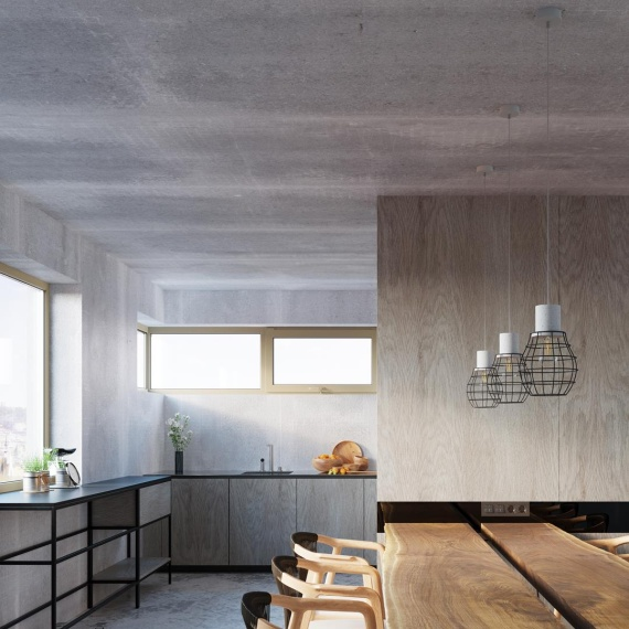 Lampa Wisząca Lugo Wiszące   Żyrandole Nowoczesna betonowa lampa wisząca