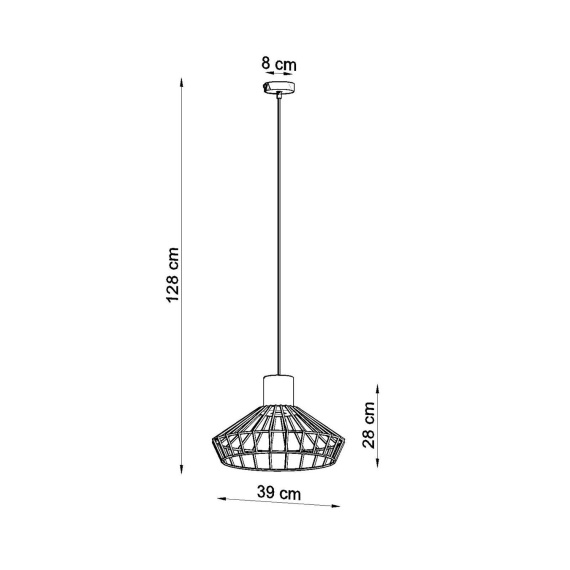 Lampa Wisząca Nelson Wiszące | Żyrandole Nowoczesna betonowa lampa wisząca