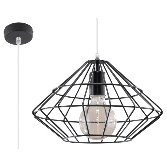 Lampa Wisząca Umberto Wiszące | Żyrandole nowoczesna druciana lampa wisząca