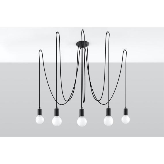Lampa Edison 5 Wiszące   Żyrandole nowoczesna lampa do salonu