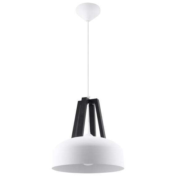 Lampa Wisząca CASCO Oświetlenie biała lampa wisząca