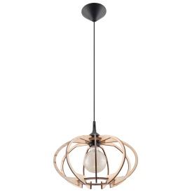 Lampa Wisząca MANDELINO Wiszące | Żyrandole drewniana lampa