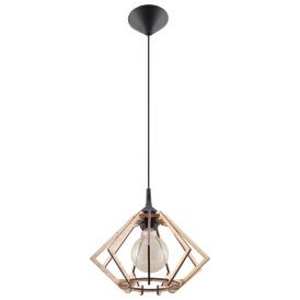 Lampa Wisząca POMPELMO Lampy do kuchni drewniana lampa