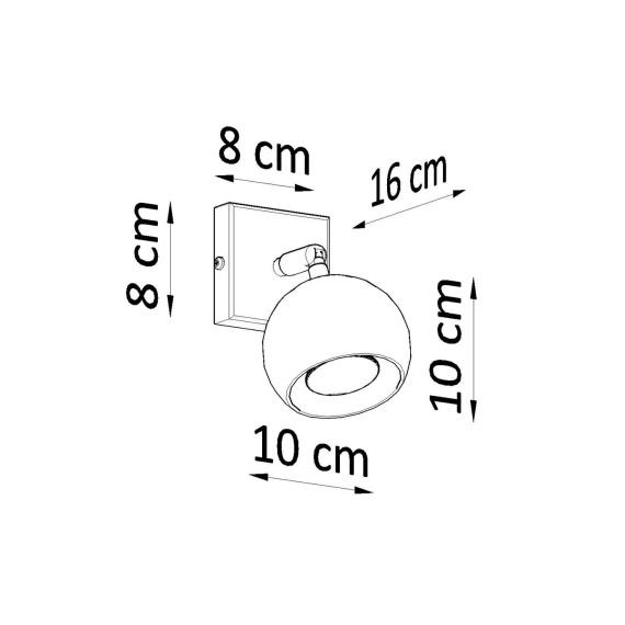 Regulowany kinkiet Oculare Lampy ścienne   Kinkiety kwadratowy kinkiet